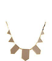 House of Harlow 1960 - Plated Five Station Khaki Leather Necklace