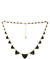 House of Harlow 1960 - Pyramid Station Necklace with Black Resin