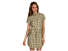 Fred Perry - Summer Check Button Down Shirt Dress (Sweetcorn) - Apparel