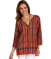 Maison Scotch - Checked Fringe Top