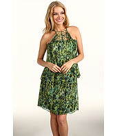 BCBGMAXAZRIA - Kaia Tiered Silk Dress