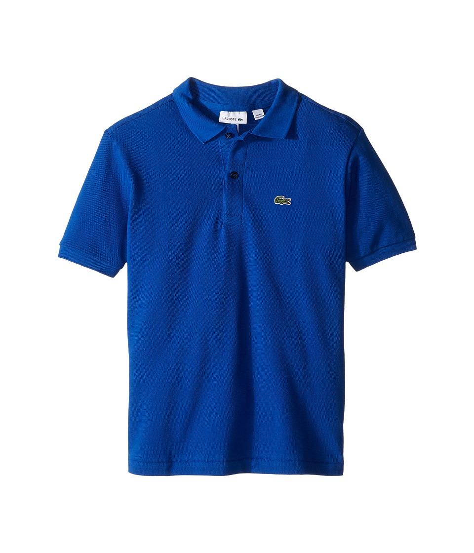 Lacoste Kids - Short Sleeve Classic Pique Polo Shirt (Toddler/Little Kids/Big Kids) (Steamer) Boy