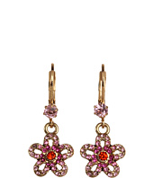 Betsey Johnson - Iconic Crystal Flower Drop Earrings