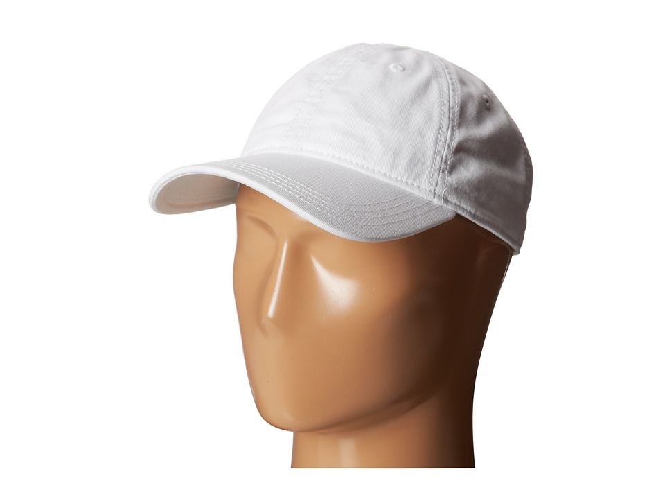 Lacoste - Green Croc Gabardine Cotton Cap (White) Caps