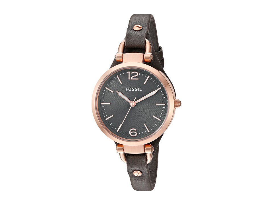 Fossil - Georgia - ES3077 (Grey/Rose Gold) Analog Watches