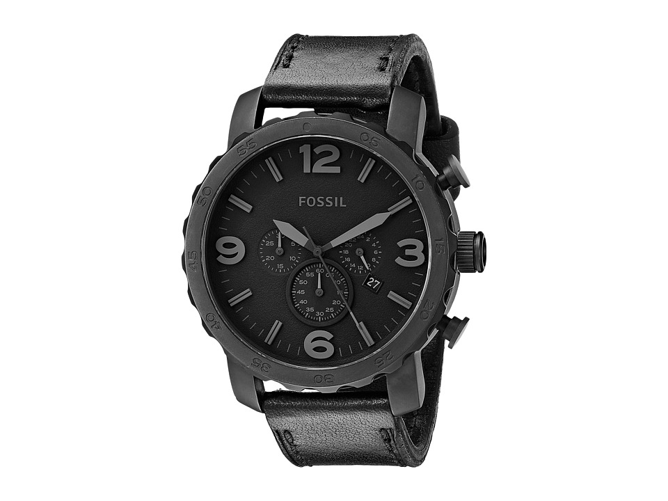 Fossil - Nate - JR1354 (Black) Analog Watches