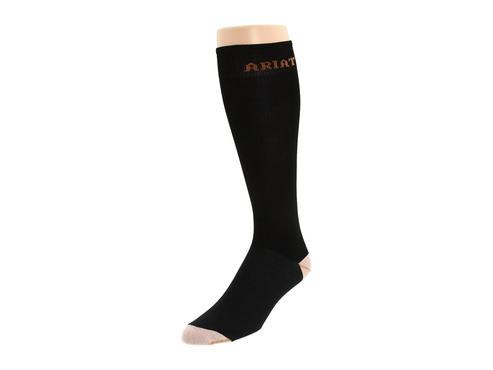 Ariat Tall Boot Sock (Black) Women's Knee High Socks Shoes