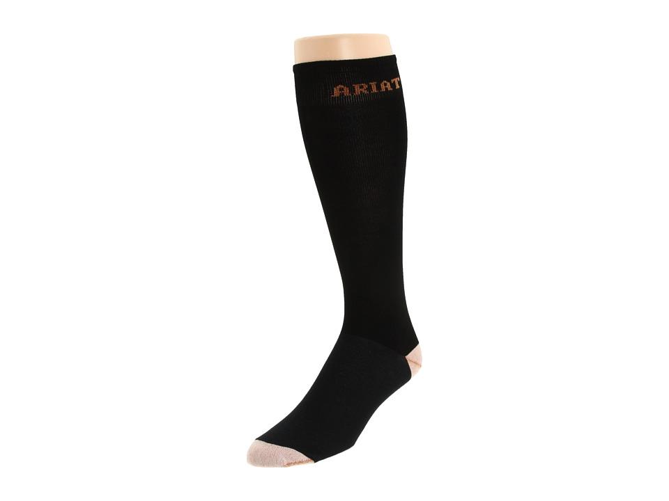 Ariat Tall Boot Sock (Black) Men