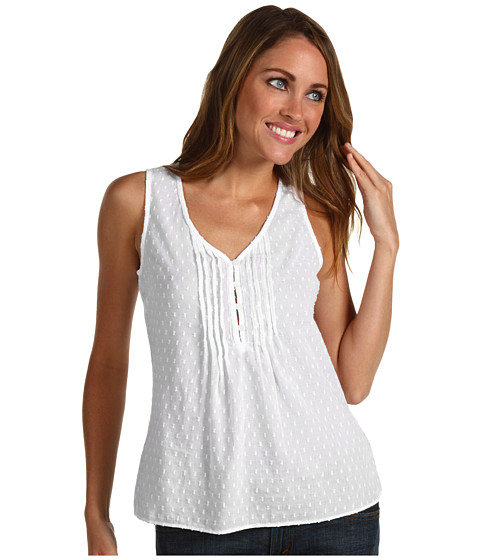 Calvin Klein Jeans Petite Petite Pintuck Cap Sleeve Top at Zappos.com :  comfy dress charming and appeal dress white and cute dress womens