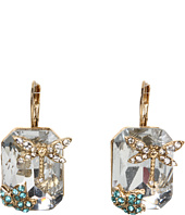 Betsey Johnson - Iconic Enchanted Garden Square Drop Earrings