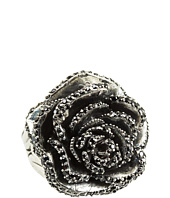 King Baby Studio - Rose Ring with Pave Black CZ