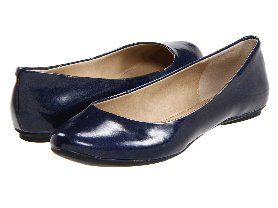 Kenneth Cole Reaction - Slip On By (Midnight Patent) Women's Flat Shoes