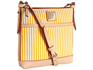 Dooney & Bourke - DB Stripes Letter Carrier (Sunflower/Natural Trim) - Bags and Luggage