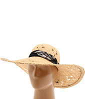 Laundry by Shelli Segal - 2-in-1 Raffia Sun Hat with Removable Silk Headband