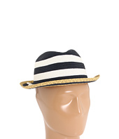 Laundry by Shelli Segal - Narrow Braid Striped Fedora with Self Bow