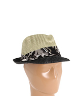 Laundry by Shelli Segal - Two-Tone Fedora with Laundry Print Silk-Gauze Band