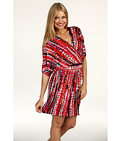 Laundry by Shelli Segal - Dolman Sleeve Printed Matte Jersey Dress