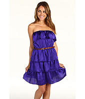 Laundry by Shelli Segal - Tiered Belted Ruffle Dress