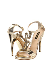 Roberto Cavalli - Calf Sandal Pump with Gold Metal Snake Detail