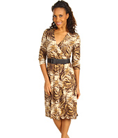 Jones New York - 3/4 Sleeve Tiger Wrap Dress
