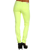 AG Adriano Goldschmied - Stilt Cigarette Leg Stretch Sateen in Neon Yellow