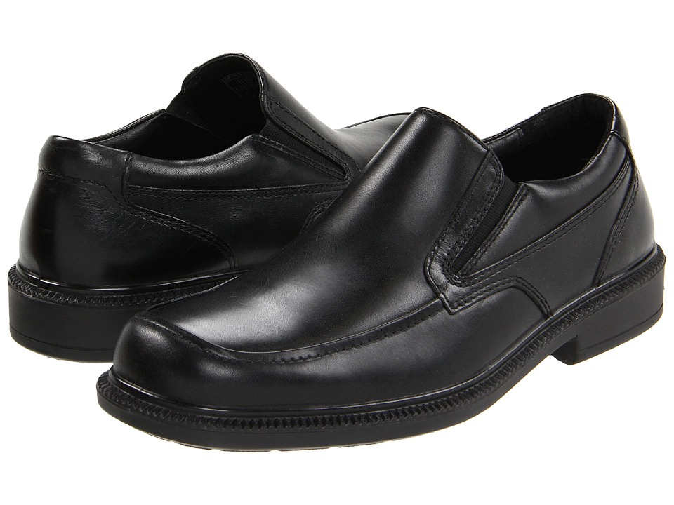 Hush Puppies Leverage Black Leather Mens Shoes