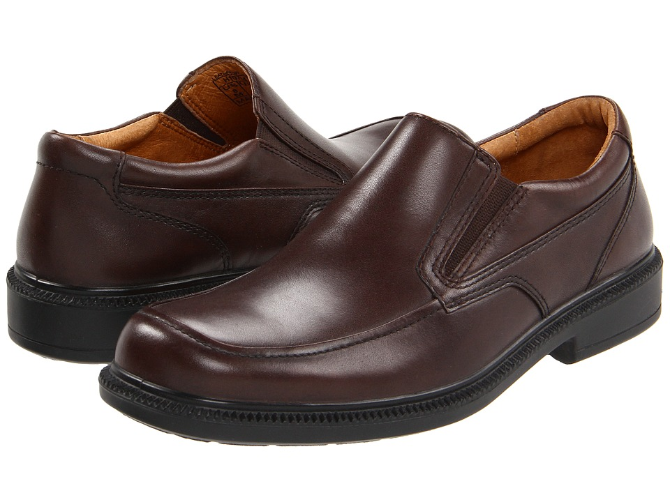 Hush Puppies Leverage (Brown Leather) Men's Shoes