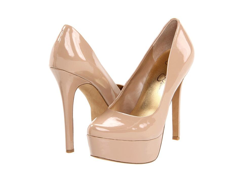 Jessica Simpson Waleo (Nude Patent) High Heel Shoes