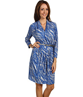 Anne Klein - Raindrop Print 3/4 Sleeve Dress