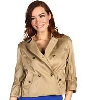 Anne Klein - Luster Cloth Cropped Trench Coat