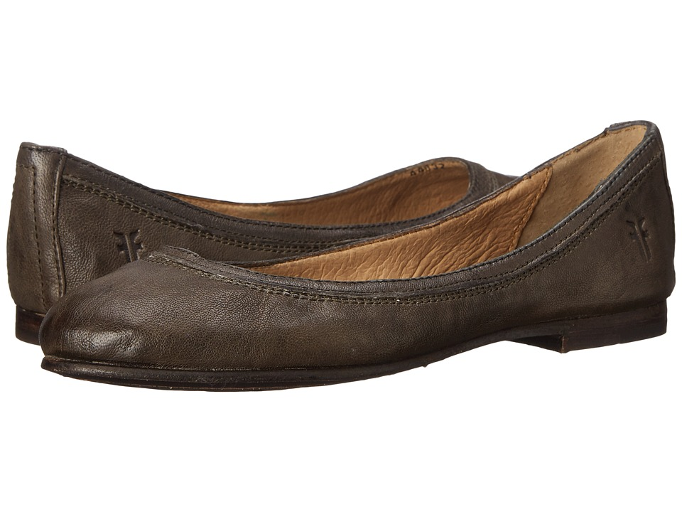 Frye Carson Ballet (Charcoal Antique Soft Full Grain) Flats