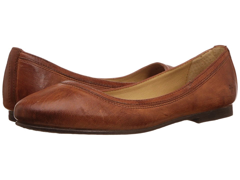 Frye Carson Ballet (Cognac Antique Soft Full Grain) Flats