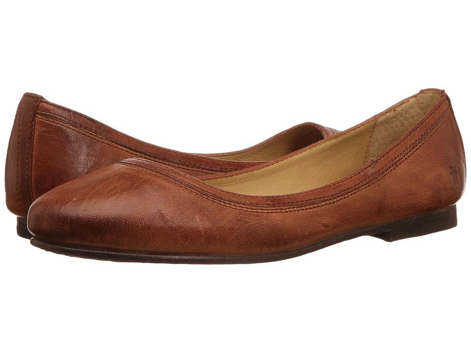 Frye Carson Ballet (Cognac Antique Soft Full Grain) Flats