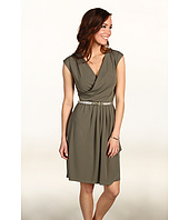 Anne Klein - Knit Dress w/ Skirt Draping