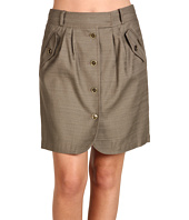 Anne Klein - Slubby Texture Button Front Skirt