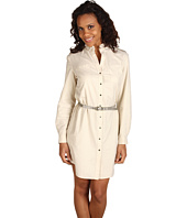 Anne Klein - Shimmer Gauze Shirt Dress