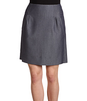 Anne Klein - Indigo Twill Skirt w/ Pleats