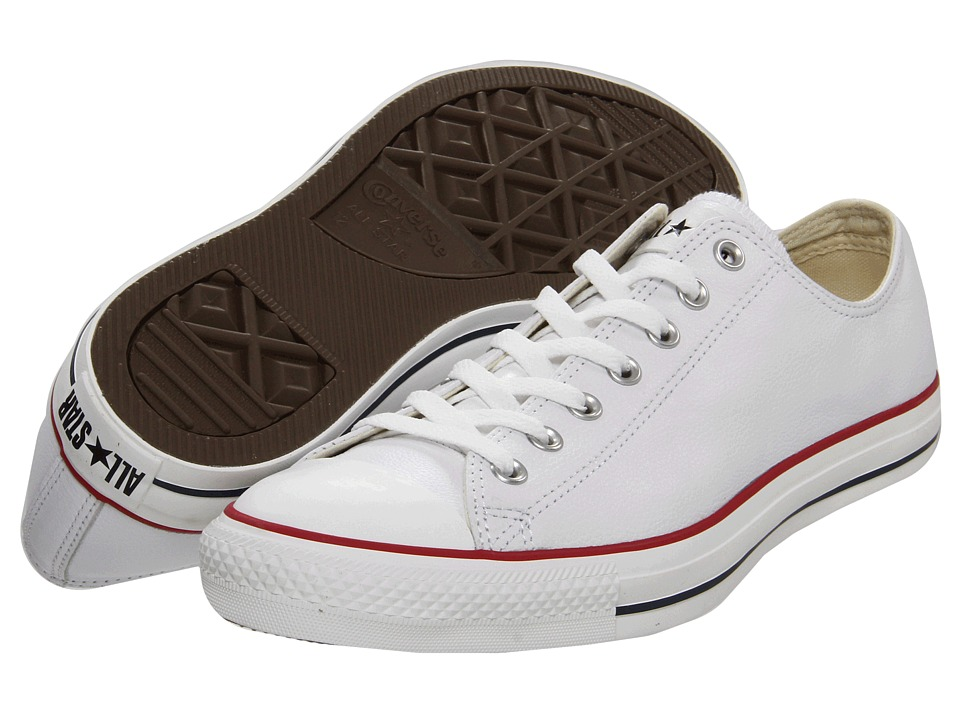 Converse - Chuck Taylor(r) All Star(r) Leather Ox (White/Leather) Shoes