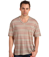 Alternative Apparel - Striped Linen V-Neck Tee