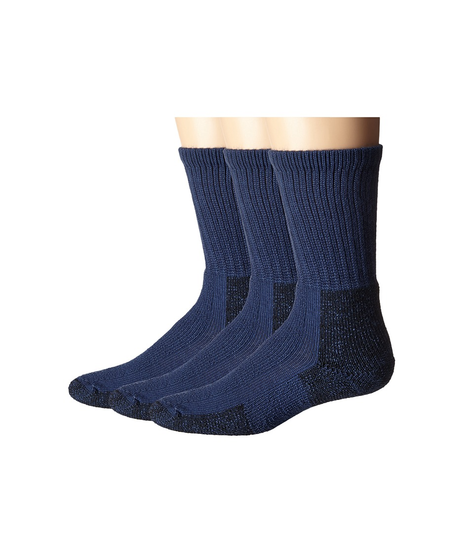 Thorlos - Hiking Crew 3-Pair Pack (Dark Blue) Crew Cut Socks Shoes