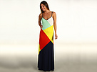 Juicy Couture - Seamed Maxi Dress (Summer Multi Combo) - Apparel