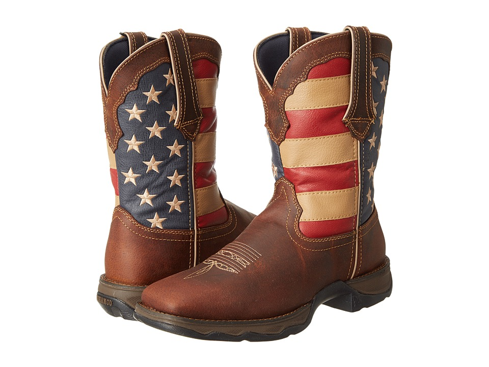 Durango RD4414 Flag (Dark Brown) Women's Pull-on Boots