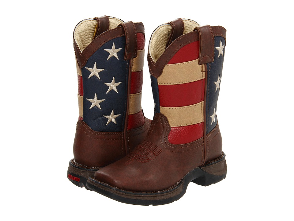 Durango Kids BT245 Flag Toddler/Little Kid/Big Kid Brown/Flag Cowboy Boots