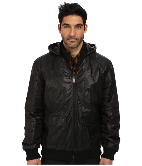 Give your street cred a little boost with this cool Buffalo David Bitton PU Bomber jacket. Faux-leather jacket in a classic bomber silhouette.