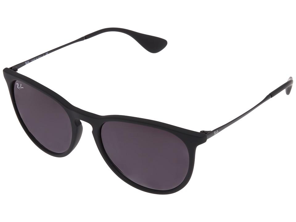 Ray-Ban - Erika (Rubberized Black) Plastic Frame Fashion Sunglasses