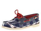 Sperry Top-Sider - A/O 2-Eye (Blue Ikat/Navy) - Footwear
