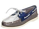 Sperry Top-Sider - A/O 2-Eye (Pewter/Metallic Blue/Silver)