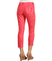 CJ by Cookie Johnson - Believe Zebra Crop Legging in Persimmon