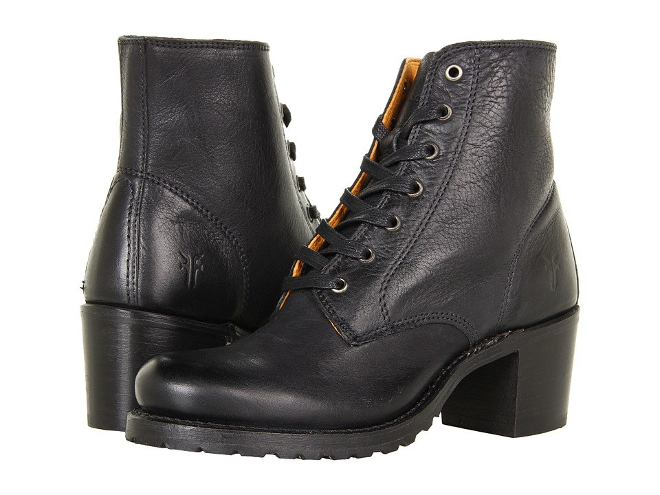 Frye - Sabrina 6G Lace Up (Black Dakota) Womens Lace-up Boots