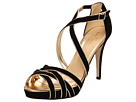 Kate Spade New York - Ginger (Black Suede/Old Gold Metallic Nappa) - Footwear
